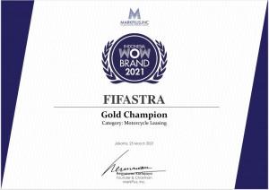 FIFASTRA Raih Gold Champion Dalam Indonesia WOW Brand Festive Day 2021